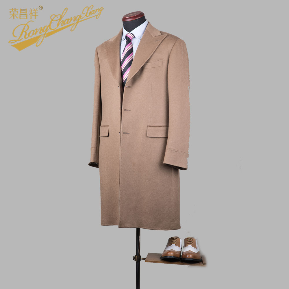 Hot sale long style best quality wool cashmere winter men coat