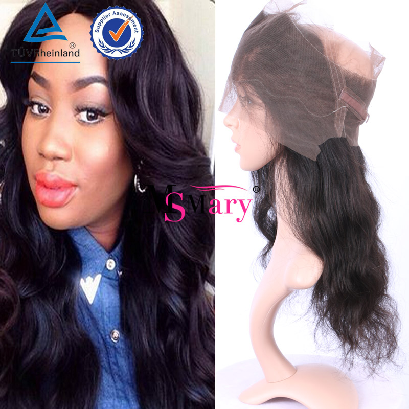 Natural Hair Line 8A Grade Malaysian Virgin Hair Body Wave 360 Lace Frontal Wig