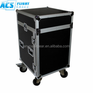 14u flight road case/14u rack case with wheel/protable case for road