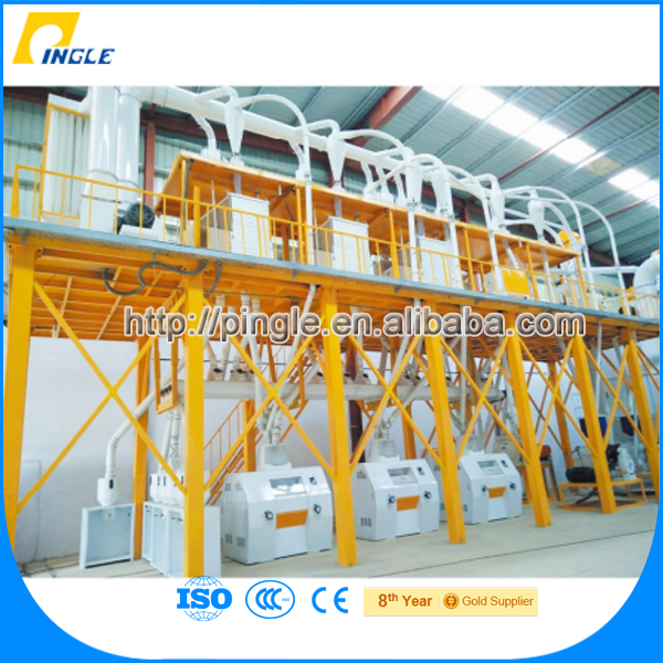 2016 Newest Hot Selling Pingle Milling Machine 50t/24H Wheat Professional Corn Flour Milling Equipment