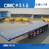 CIMC tri axle flat bed semi trailer chasis