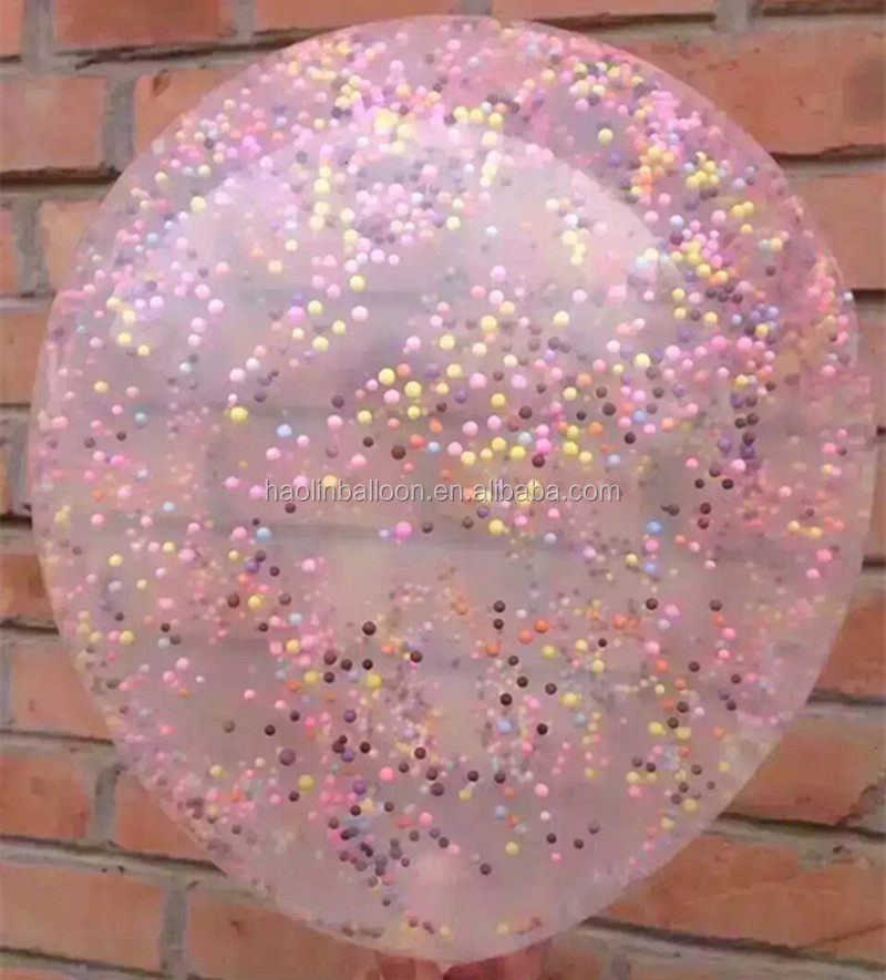 natural latex balloon within confetti /paper/foil baloon