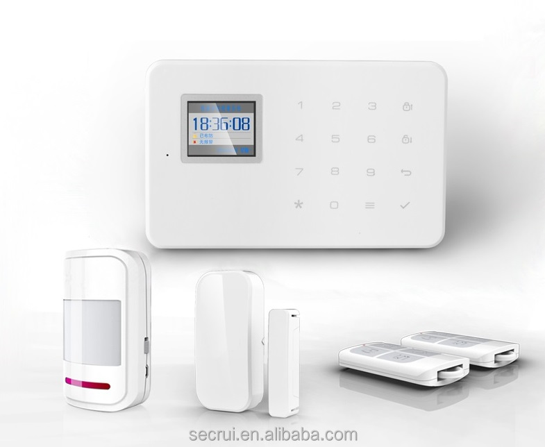 home and business use wireless gsm safe home alarm systems