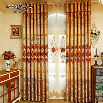 Hot Sale Ready Made Curtain With Beautiful Peony Embroidery Designs For  Living Room Curtains - Buy Hot Sale Ready Made Curtain,Curtain With ...