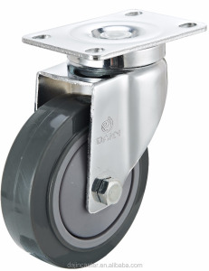 Load capacity 100kg 3 inch swivel grey PU caster wheels for trolleys