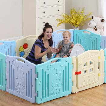 Baby Playpen Fence Kiddie Bear 01001 Indoor Plastic Safety Baby ...