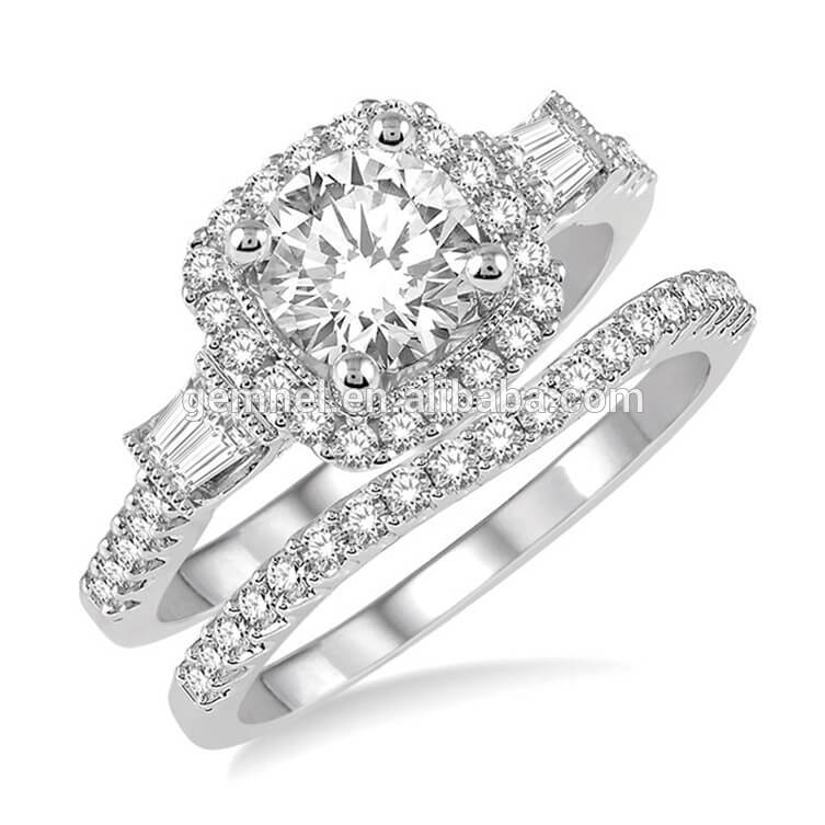 Engagement Rings Sterns: Gemnel Fashion 925 Silver Sterns Diamond Engagement Ring
