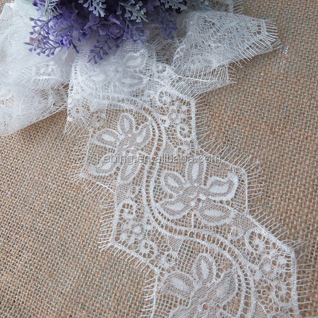 Fashion Raw white Eyelashes lace China Factory Direct Sales Trimming lace