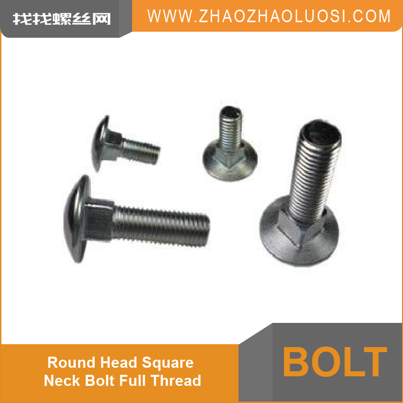High Quality Round Head Square Neck Bolt Full Thread Carriage Bolt DIN21547 in Alibaba