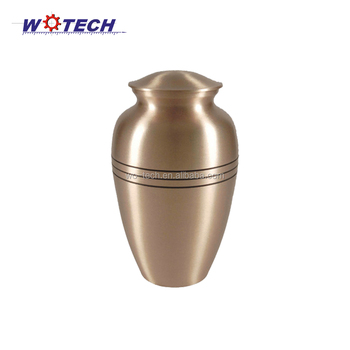 Metal spinning cremation urn