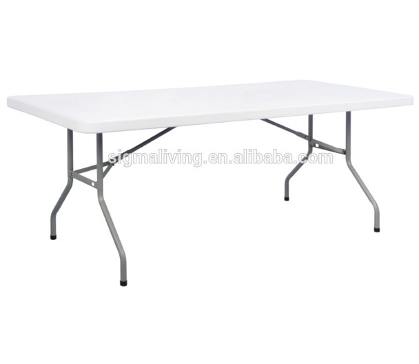 Hot sale white plastic blow molding dressing folding table furniture