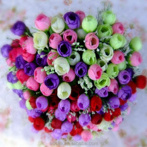 Import china mini artificial silk flowers real touch artificial flower head