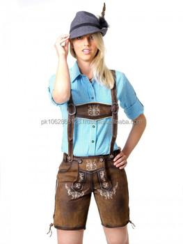fe5cf6b97c Oktoberfest German LEDERHOSENN, suede Leather Shorts lederhose ladies  lederhosen with suspenders