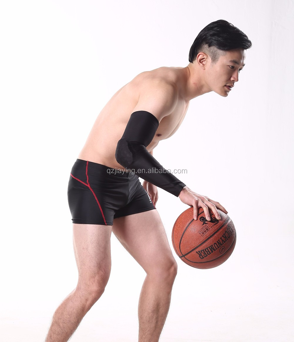 Padded Breathable Crashproof Custom Arm Sleeves for Basketball and Cycling
