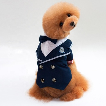Hot selling male wedding dog suits and ties for wholesale