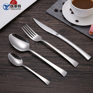 Stainless Steel Silver China Hand Forged Flatware Set Cutlery For Wedding And Gift Set
