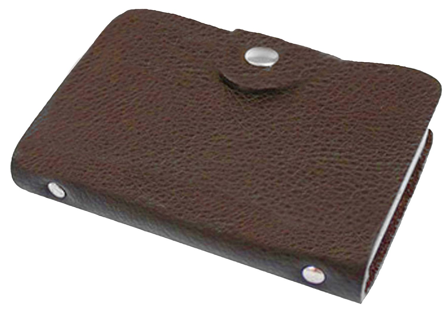 Leather Wallet Credit Card or Business Card Photo Holder Case Brown