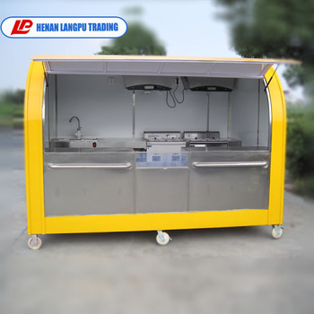 Stainless Steel Commercial Mobile Coffee Cart For Sale
