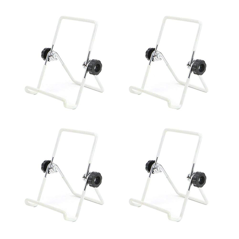 BESTONZON Foldable Sprouting Jar Stand, Stainless Steel Sprouting Lid Stands Kit for Mason Jar and Phone iPad Tablet Stand (4 Pack,White)