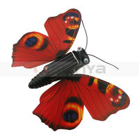 Solar Educational Flying Wobble Fluttering Fake Butterfly Badget