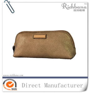 Fashion branded cosmetic pouch with handle toiletry bag