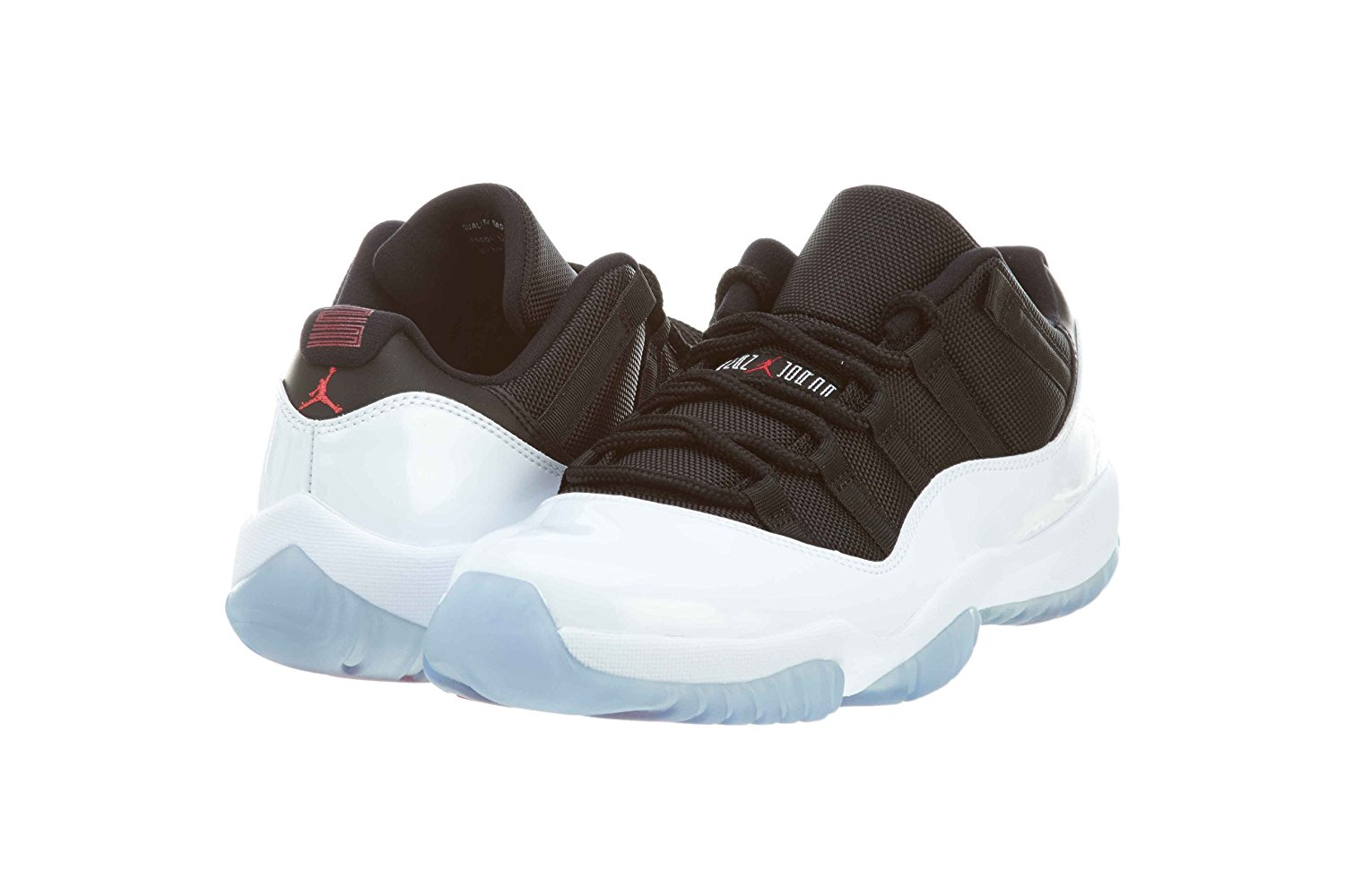 4bf5ab9ec52119 Air Jordan Retro 11 Low Men s Shoes Black Infrared-Pure Platinum 528895-023