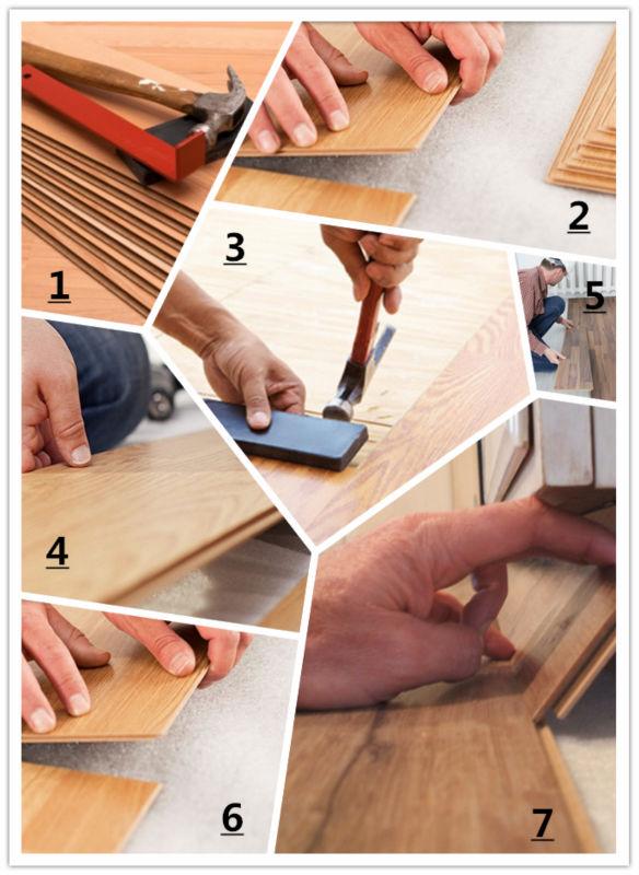 plancher flottant stratifi bois 8mm hdf m lamin jaune de. Black Bedroom Furniture Sets. Home Design Ideas