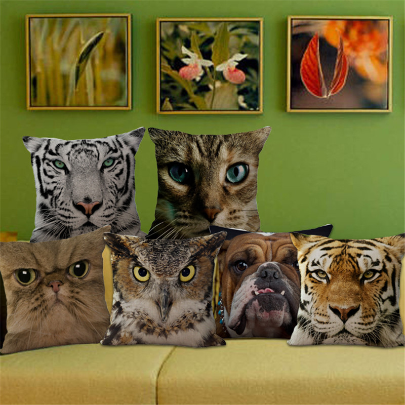1x Animal Cushion Cover Pillow <font><b>Home</b></font> Wildlife <font><b>Decor</b></font> Furnishings Quirky Photography Cool <font><b>Hipster</b></font> Multiple Designs 435x435mm