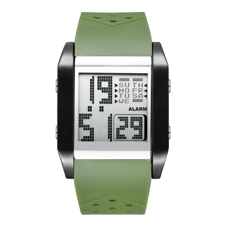 New LED Electronic Watch Multi-function Sports Alarm Clock Running Timing Men's Camouflage Watch
