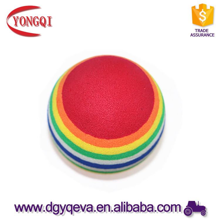 eco-friendly rainbow color decorative eva foam ball