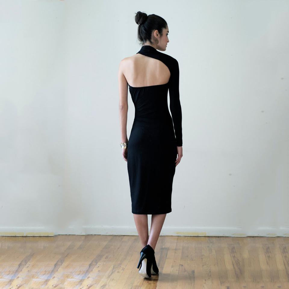 49caf37c1d29d7 ... Bodycon il_570xN.859143904_d1tj FEIBUSHI 2017 Womens Modal Solid Black  Cotton Elegant Sexy One Shoulder Sheath Long Sleeve Casual Party 0324g-2 ...