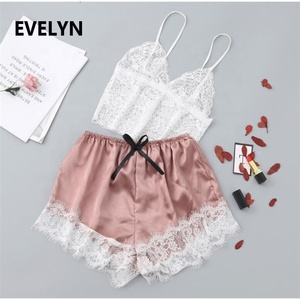 clothing factory Sexy home pajamas fashion show sexy babydoll sleepwear women short set