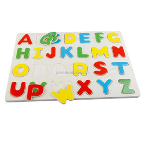wooden toy 26 letters educational toys Capital letters Jigsaw puzzle board