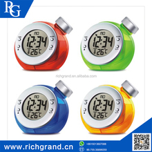 New Product Temperature function water powered thermometer digital alarm clock , alarm clock