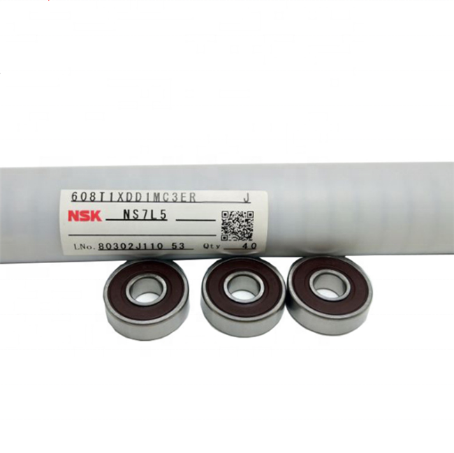 NSK ญี่ปุ่น Original chrome steel ball bearing nsk 608z1 แบริ่ง 608ddu