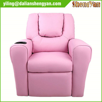 PINK KIDS CHILDRENS RECLINER ARMCHAIR/GAMES CHAIR/SOFA/SEAT In PU LEATHER  LOOK