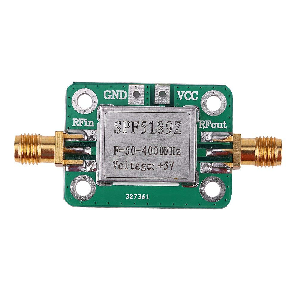 RF Amplifier, Asixx LNA 50-4000MHz Low Noise Amplifier or SPF5189 RF Amplifier Signal Receiver for FM HF VHF/UHF Ham Radio