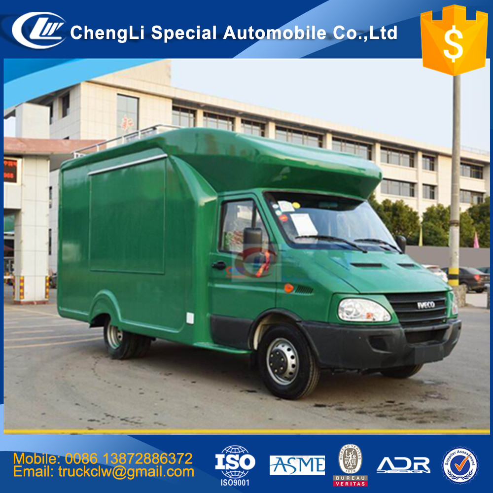 China First brand Manufacturer IVECO JAC Chery Foton ISUZU JMC Food truck 4x2 Stainless steel Restaurant IVECO Fast food van car