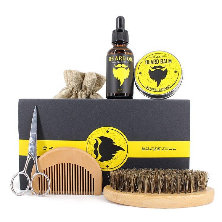 OEM Custom Private Label Organic Scented men Beard Oil Grooming Set For Men, N/a