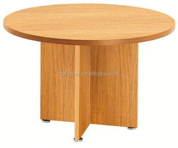 Spaanplaat houten ronde tafel ronde eettafel met roterende center