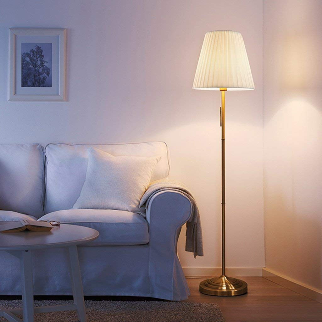 Edge To Floor lamp European Retro Creative Floor Lamp Living Room Sofa Study Reading Lamp, European Vertical Lamp, Nordic Led Floor Lamp, Eye Protection Lamps ( Color : Beige )