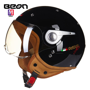 Factory wholesale price open face motorcycle helmet ECE certification and ABS material BEON motorcycle helmet