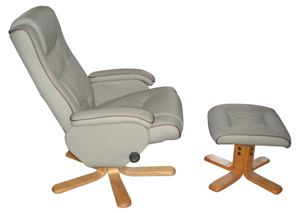 Living Room Office Leisure Reclining Chair With Ottoman