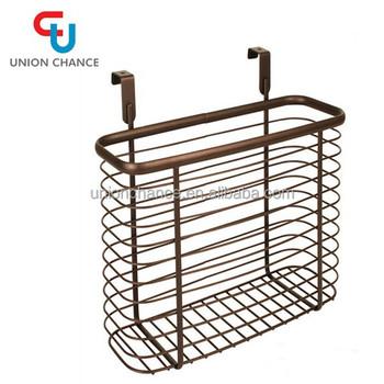 Cabinet Hanging Rack Metal Hanging Basket Deep Storage Basket Large Capacity