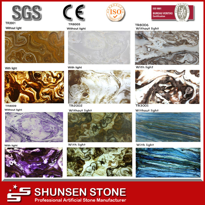 Decorative artificial onyx marble/Artificial onyx marble/Artificial onyx stone