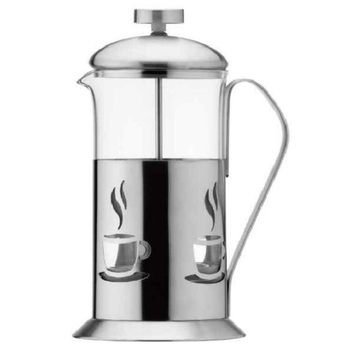 Stainless steel french Press coffee plunger with coffee cup shape
