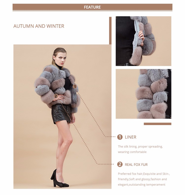 Pink Fox Fur Coat Lovely Girl Full Length Faux Minks Coats With ...