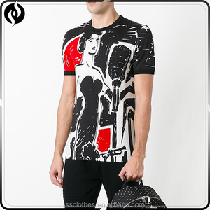 Best quality fashion black 100% cotton mens custom t shirt for wholesale