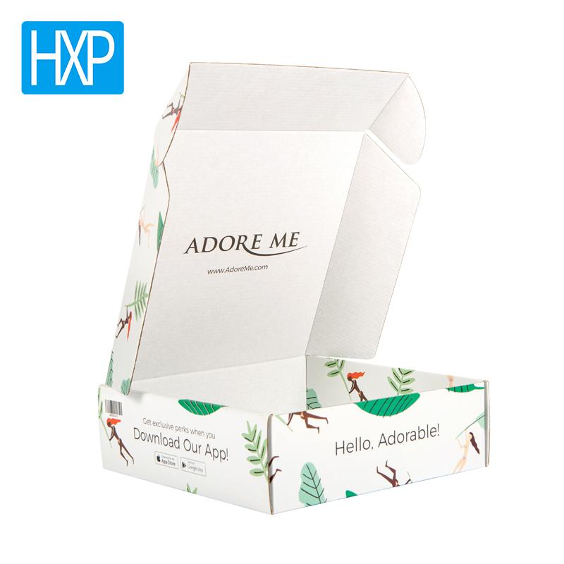 सस्ते कीमत सफेद नालीदार मेलर गत्ते का डिब्बा पैकेजिंग बॉक्स