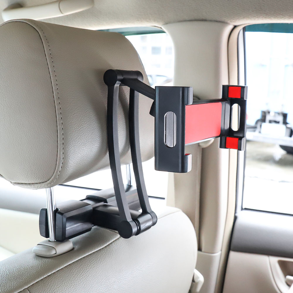 360 Degree Rotating Universal Car Seat Tablet Secure Headrest Mount Holder For 4 - 13 Inch Tablet Pc
